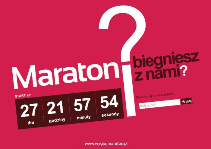 Strona internetowa akcji wygraj maraton dla Ptak S.A.