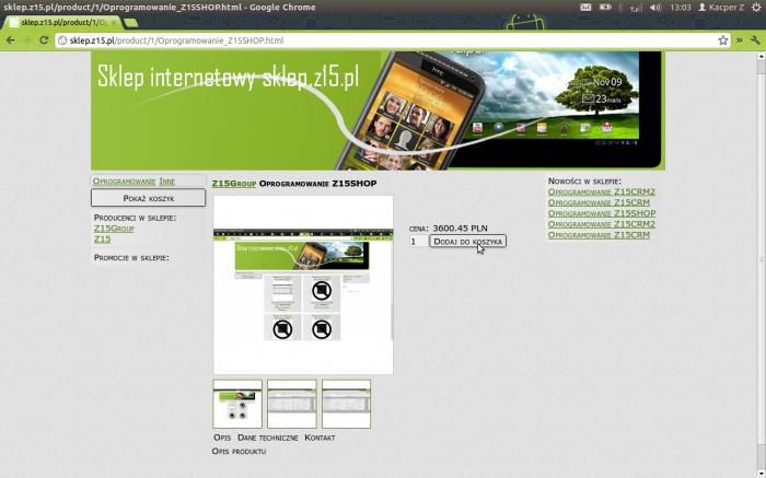 Sklep internetowy Z15Shop