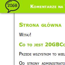 System komentarzy 20gb.pl
