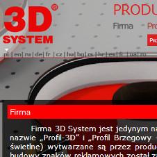 Strona internetowa firmy 3dsystem