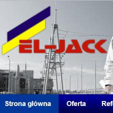 Strona internetowa Zakładu Projektowo - Usługowego Budownictwa i Energetyki EL - JACK