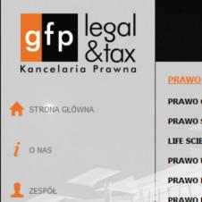 Strona internetowa kancelarii prawnej GFP LEGAL&TAX